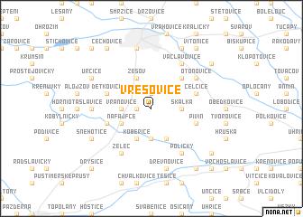 map of Vřesovice