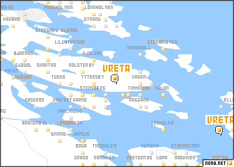 map of Vreta