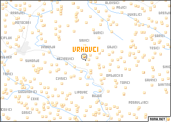map of Vrhovci