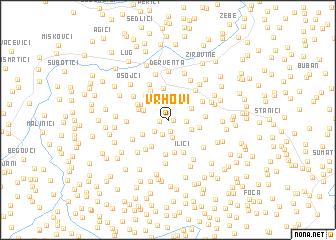 map of Vrhovi