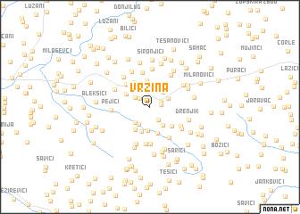 map of Vržina