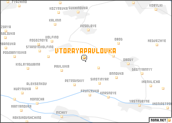 map of Vtoraya Pavlovka