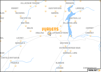 map of Vuadens