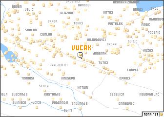 map of Vučak