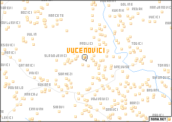 map of Vučenovići