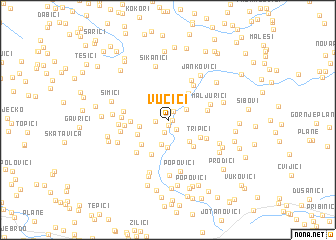map of Vučići