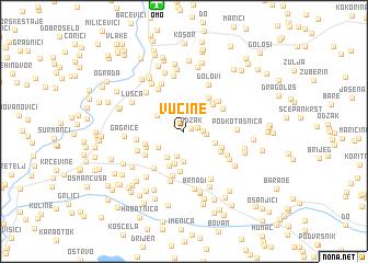 map of Vučine
