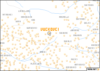 map of Vučkovci