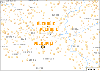 map of Vučkovići