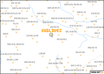 map of Vuglovec