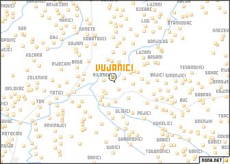map of Vujanići