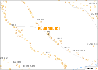 map of Vujanovići