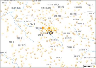 map of Vujići