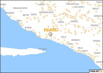 map of Vujinci