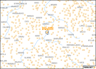 map of Vujini