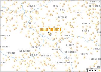 map of Vujinovići