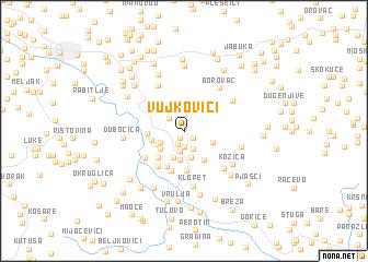 map of Vujkovići