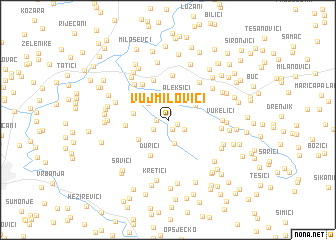 map of Vujmilovići