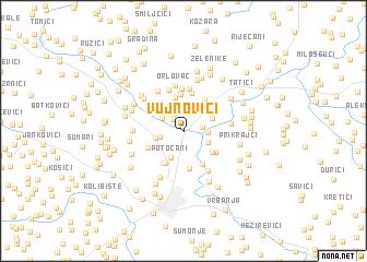 map of Vujnovići