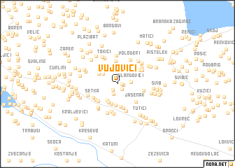 map of Vujovići