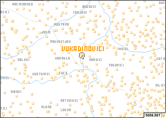 map of Vukadinovići
