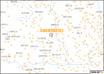 map of Vukanovići