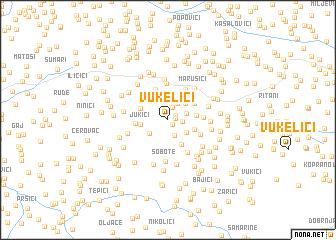 map of Vukelići
