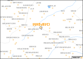 map of Vukojevci