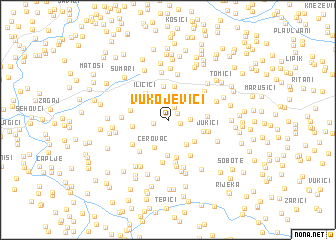 map of Vukojevići