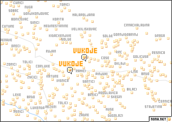 map of Vukoje