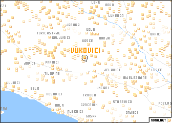 map of Vukovići