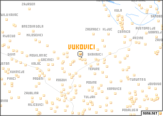map of Vukovići