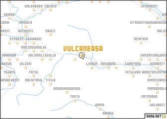 map of Vulcăneasa