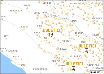 map of Vuletići