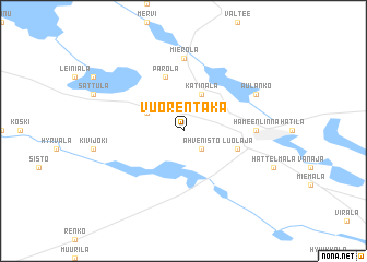 map of Vuorentaka