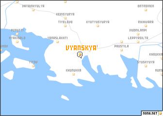 map of Vyanskya