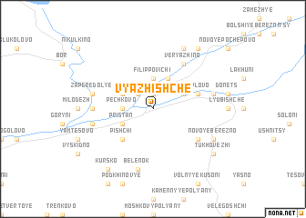 map of Vyazhishche