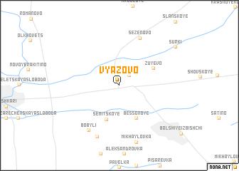 map of Vyazovo