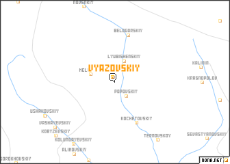 map of Vyazovskiy