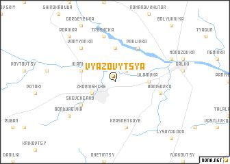 map of Vyazovytsya