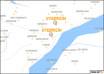 map of Vygonichi