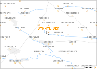 map of Vykhylivka