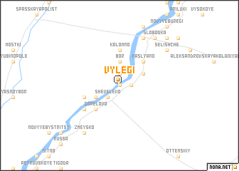 map of Vylegi