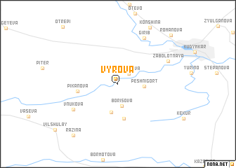 map of Vyrova