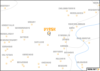 map of Vyrsk