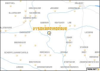 map of Vysoká pri Morave