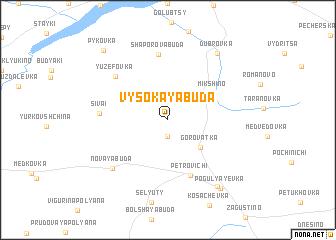 map of Vysokaya Buda