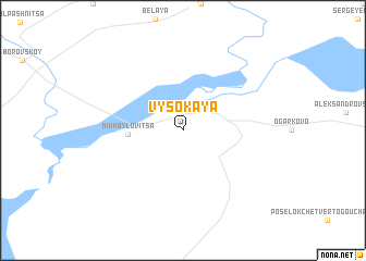 map of Vysokaya