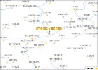 map of Vysokiy Borok