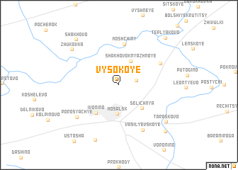 map of Vysokoye